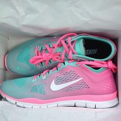 Pink turquoise sneakers