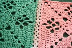 Beautiful join for crochet squares - free tutorial