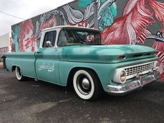 Our 63 C10 chevy truck with urban grafiti art in Downtown Phoenix