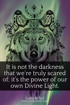 It's not darkness that we're truly scared of ...  ~ Spirituality Quotes