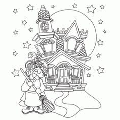 printable halloween Witch Castle coloring pages for kids.free online activities worksheets printable halloween Witch Castle coloring pages for kids. Halloween Coloring Pages Printable, Halloween Coloring Sheets, Witch Coloring Pages, Free Printable Coloring Pages, Coloring Pages For Kids, Coloring Books, Halloween Printable, Colouring Sheets, Printable Templates