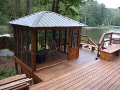 This is a beautiful addition to the deck! (Hot tub)