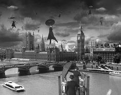 thomas barbey - surreal black and white analog photo monotage (1)
