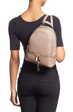 MICHAEL Michael Kors 'Extra Small Rhea Zip' Leather Backpack $258