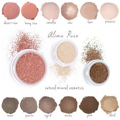 A lovely Alima Pure Giveaway on Honey Kennedy. Natural mineral cosemetics--here are some of my favorite colors.
