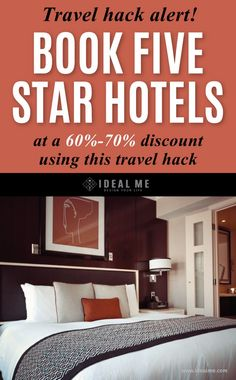 hotel hacks Want to book a five star hotel anywhere in the world at a discount Learn how with this clever and easy travel hack. Book Cheap Hotels, Hotel Hacks, Travel Tours, Travel Ideas, Travel Hacks, Travel Destinations, Web Design, Europe On A Budget, Design Your Life