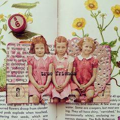 Pink altered Rolodex card swap. #rolodexcard #pink #rolodexart