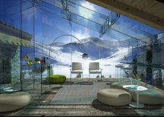 The stunning Glass House Series by Santambrogiomilano. love the glass walls but would want some privacy Microsoft, Glass Cabin, Zen, Woodland House, Interior Architecture, Interior Design, Unusual Homes, Through The Window, Winter House
