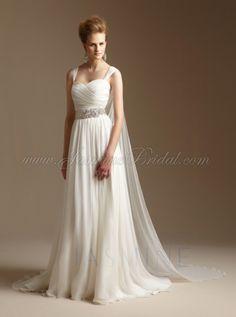 Beautiful goddess style dress with short train