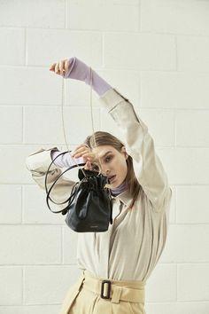JAMIE WANDER 18FW, MINI SICILIA Bag Fashion Handbags, Fashion Bags, Fashion Accessories, Women's Fashion, Mini Bag, Fashion Photo, Editorial Fashion, Luxury Fashion, Bucket Bags