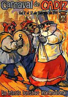 Cartel Carnaval de Cadiz año 1991