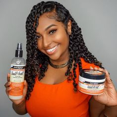 I created these two-strand twists using Half & Half Hair Silkening Milk and Seal It Up Butter from… Hey guys! I created these two-strand twists using Half & Half Hair Silkening Milk and Seal It Up Butter from… Natural Hair Twists, Natural Hair Growth, Natural Hair Journey, Natural Hair Styles Protective, Natural Hair Care Products, Beauty Products, Cabello Afro Natural, Pelo Natural, Natural Oils