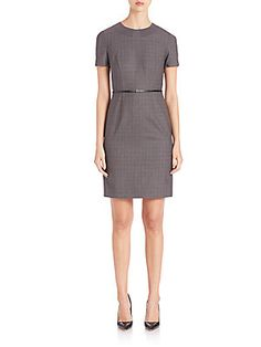 BOSS Danyka Stretch-Wool Dress