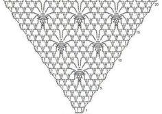 Delicadezas en crochet Gabriela: Chal con puntilla