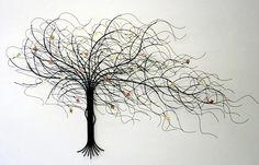 """September Tree"" Metal Wall Art by Suat Gurtan"