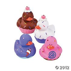 Cupcake Rubber Ducks! Sweet Treats Rubber Duckies from Oriental Trading