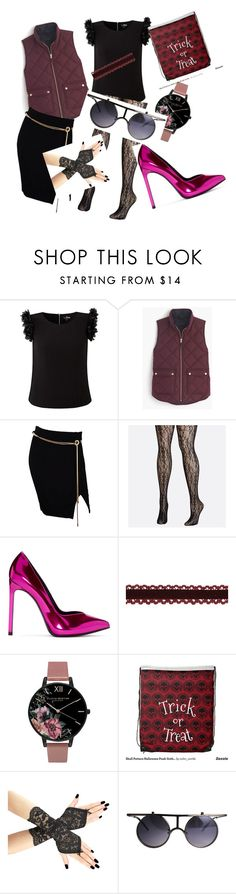 """la mode"" by dianliadore ❤ liked on Polyvore featuring J.Crew, Tadashi, Avenue, Yves Saint Laurent and Olivia Burton"
