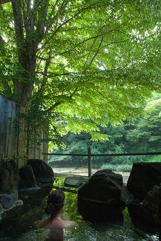Yunishigawa Onsen (Hot Spring), Tochigi, Japan 湯西川温泉