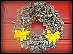 ACU, ABU or MultiCam Wreath. $25.00, via Etsy.