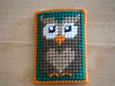Owl Gift Card Case  Plastic Canvas by ShanaysCreation on Etsy, $4.00
