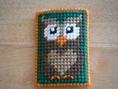 Owl Gift Card Case, Owl Decor, Baby Shower, Card Holder, Plastic Canvas, Money Wallet, Business Card, Debit Card
