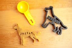 German Shepherd Cookie Cutter Custom Treat Personalized Pet by NameThatCookie on Etsy https://www.etsy.com/listing/163242177/german-shepherd-cookie-cutter-custom