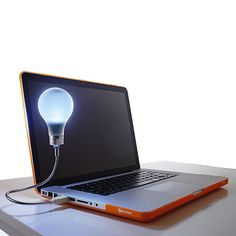 Tech Accessories You Need for..... Your Dorm Room via Brit + Co...,,.USB Laptop light for latr nite crams