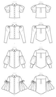 McCall's Misses' Tops - Sizes Source by etsy idea drawing Dress Design Sketches, Fashion Design Sketchbook, Fashion Illustration Sketches, Fashion Design Drawings, Fashion Sketches, Dress Sewing Patterns, Clothing Patterns, Skirt Patterns, Coat Patterns