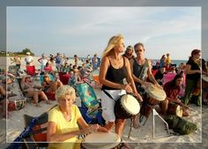 Drum Circle In Venice Florida | The Drum circle happens every Wednesday and Saturday Night on Nokomis ...