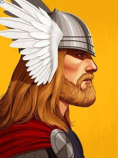 Mike Mitchell x Marvel x Mondo - Thor (Bearded)