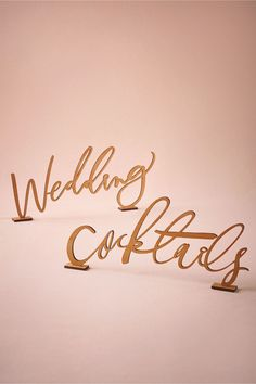 BHLDN Woodcut Calligraphy Sign