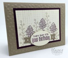 Elaine's Creations: Flowering Fields Birthday Card