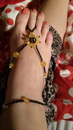 Beaded Barefoot sandal