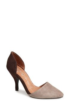 I love these shoes regardless of what the height will do to my knees.....Jeffrey Campbell 'Calista' d'Orsay Pump (Women) available at #Nordstrom