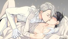 Victor and Yuuri - Yuri!!! on Ice by GEAROUS/ギア on pixiv