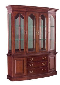 Cherry Grove Canted China Cabinet by American Drew Solid Wood Furniture, Dining Furniture, Home Furniture, Crockery Cabinet, China Cabinet, Shelf Design, Cabinet Design, White Dining Room Sets, Diy Kitchen Storage