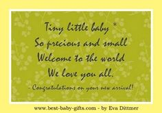 cute new baby poem for congratulations card or scrapbooking - tiny little baby