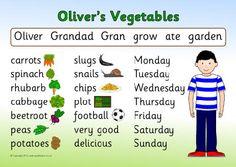 Oliver's Vegetables word mat (SB8706) - SparkleBox
