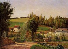Path of Hermitage at Pontoise - Camille Pissarro