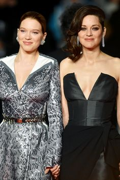 "awardseason: "" Lea Seydoux and Marion Cotillard attend the 'It's Only The End Of The World (Juste La Fin Du Monde)' Premiere during the 69th annual Cannes Film Festival at the Palais des Festivals on..."