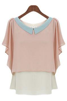 4cadf9c9d6e Ruffled Layer Chiffon Blouse - OASAP.com. Kurti Sleeves DesignSweater  ShirtCollar ...