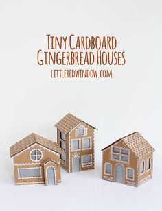 Tiny Cardboard Gingerbread Houses Pictures, Photos, and Images for Facebook, Tumblr, Pinterest, and Twitter