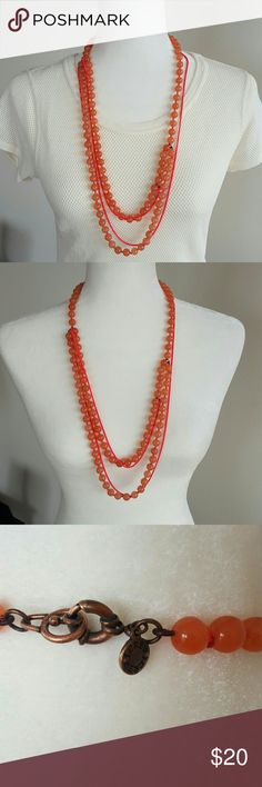 "J. Crew Pink Bead and Neon Chain Necklace Great statement necklace to dress up any outfit! In excellent condition - no missing beads or scratches. 28"" Length Bronze tone clasp No trades accepted  Open to reasonable offers  Any questions, let us know! Follow us @mirror.image.trends J. Crew Jewelry Necklaces"