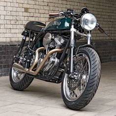 A most unorthodox Norton cafe racer—with a Buell X1 engine.