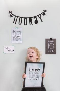 Little Dutch ★ Posters & cards  #littledutch #poster #card #flower #girl #happy #hooray #mint #love