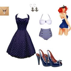 Loving the navy My Dream, Summer Dresses, Navy, Image, Clothes, Fashion, Summer Sundresses, Tall Clothing, Moda