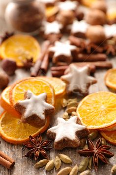 assorted christmas cookie and spice stock photo (c) M-studio (#8715549) | Stockfresh