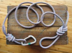 Recycled Climbing Rope & Carabiner Dog Leash  by LittleCityFarms