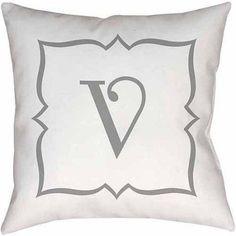 Thumbprintz Silver Script Monogram Decorative Pillows
