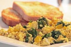 Tofu Scramble with Spinach and Yellow Peppers | All Recipes Vegan - Vegan and vegetarian recipes and products